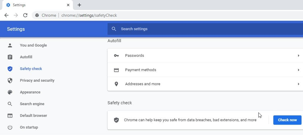 Safety-Check-in-Chrome-Settings