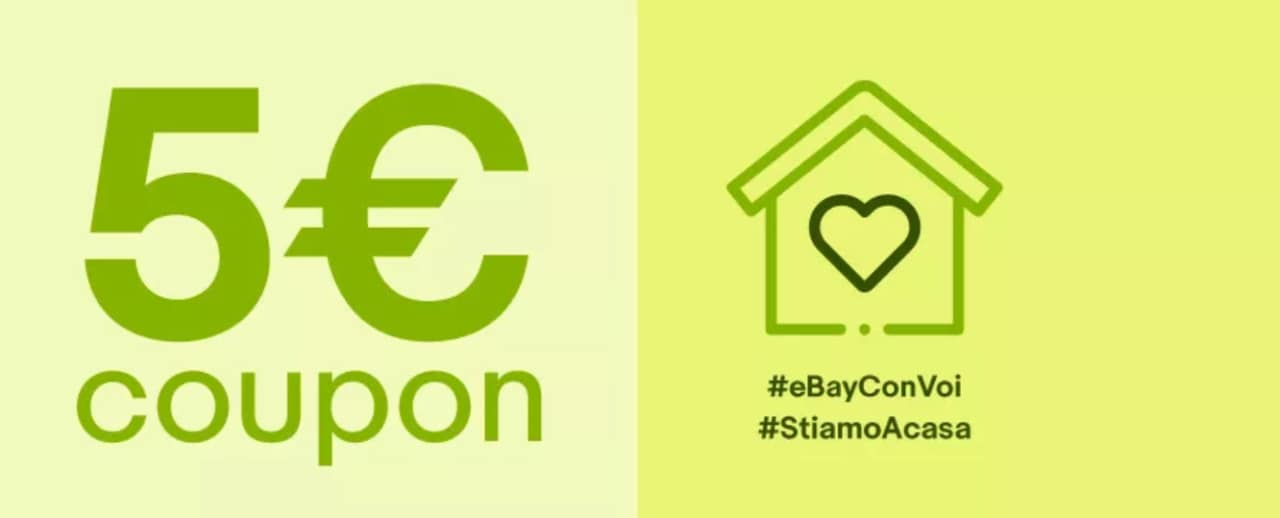 Coupon eBay per ricevere 5€ di sconto extra su cibo, casalinghi e accessori smart (aggiornato)