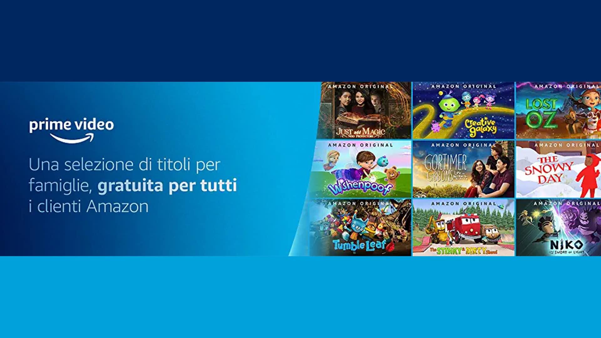 Prime Video regala una selezione di titoli per famiglie a tutti gli utenti