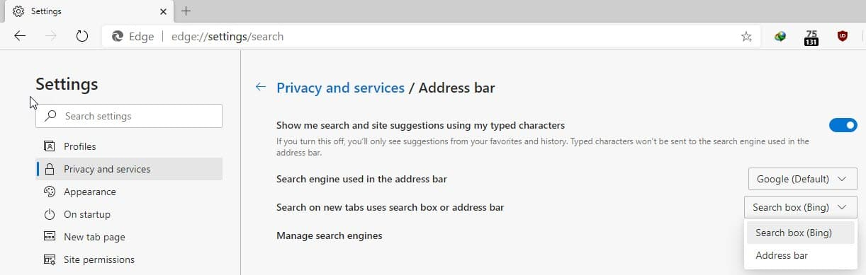 set-search-on-new-tabs-to-use-address-bar