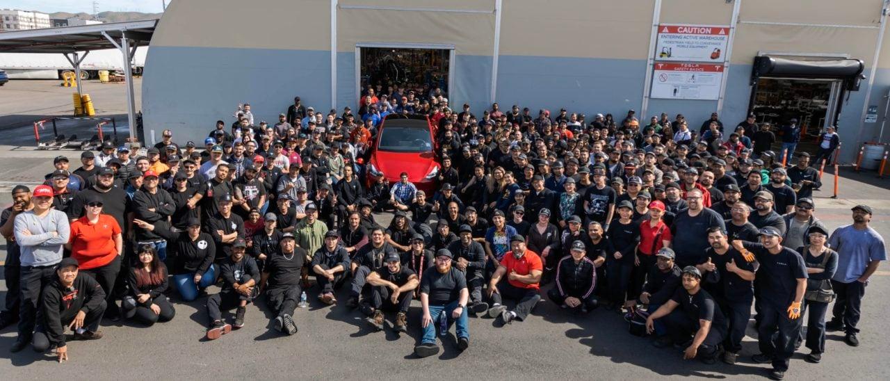 Tesla festeggia la vettura numero 1.000.000 (foto)