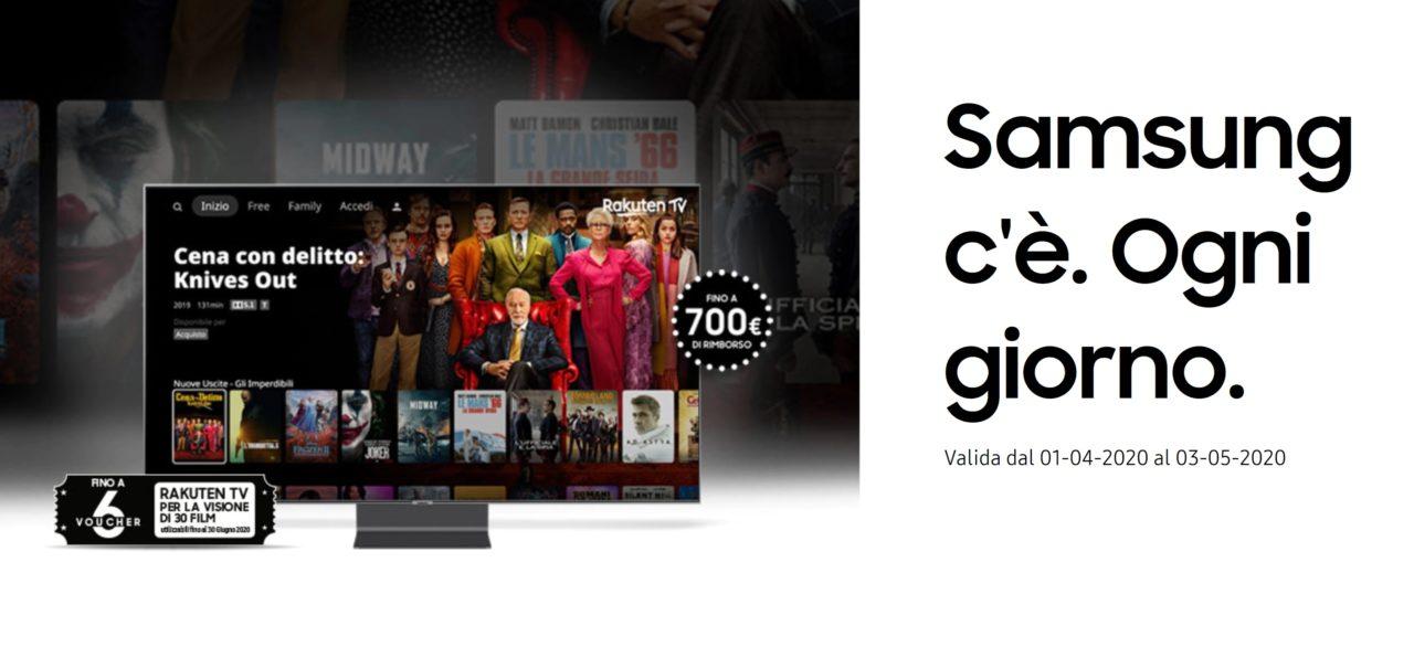 Rimborsi e regali per chi acquista un TV o una Soundbar Samsung in promozione