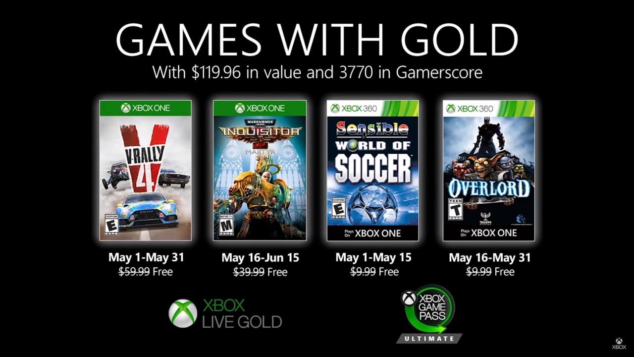 Games with Gold: ecco i quattro titoli da giocare gratuitamente con Xbox a maggio (video)