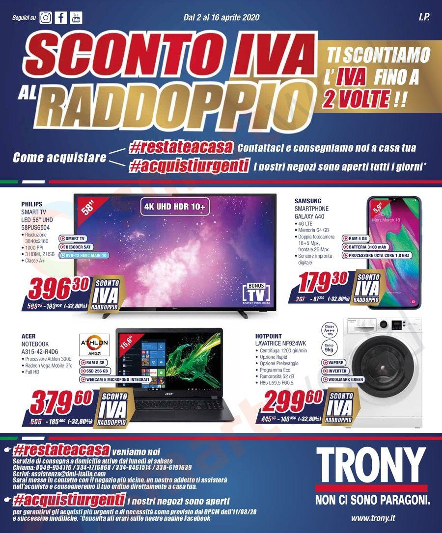 """Volantino Trony """"Sconto IVA al raddoppio"""" (2)"""