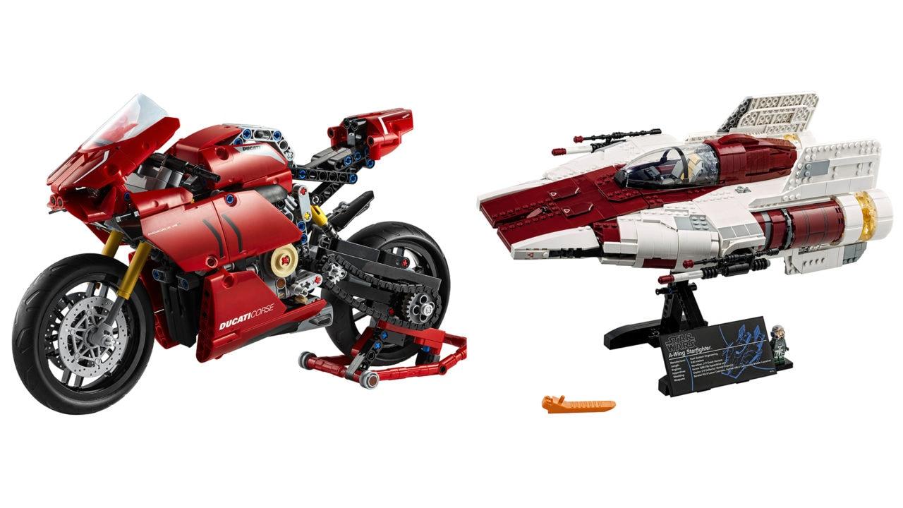 LEGO presenta 2 bellissimi nuovi set: Ducati Panigale V4 R e Star Wars A-Wing Starfighter (foto e video)