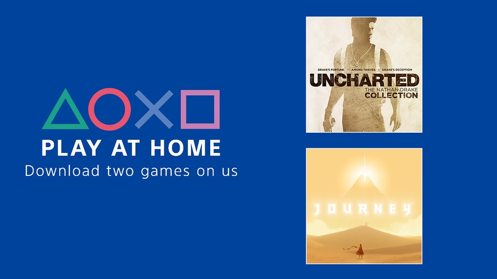 """Sony lancia """"Play at Home"""": scaricate gratis Uncharted: The Nathan Drake Collection e Journey per PS4!"""