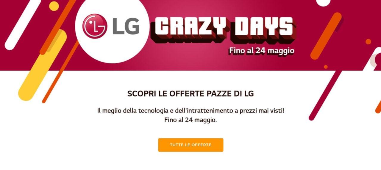 """Offerte Unieuro """"LG Crazy Days"""": Monitor, TV e soundbar in sconto fino al 24 maggio"""