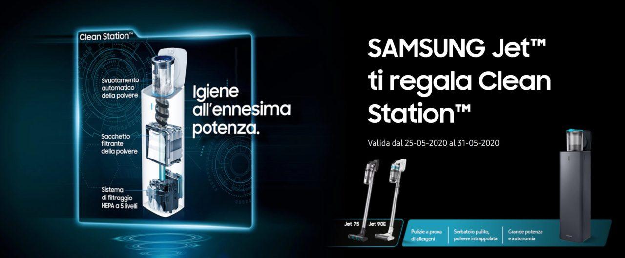 Un regalo smart per tutti quelli che acquisteranno una scopa elettrica Samsung Jet