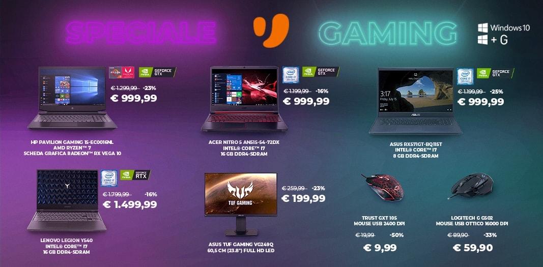 """Offerte Unieuro """"Speciale PC Gaming"""" fino al 28 maggio: notebook, monitor e accessori in sconto"""