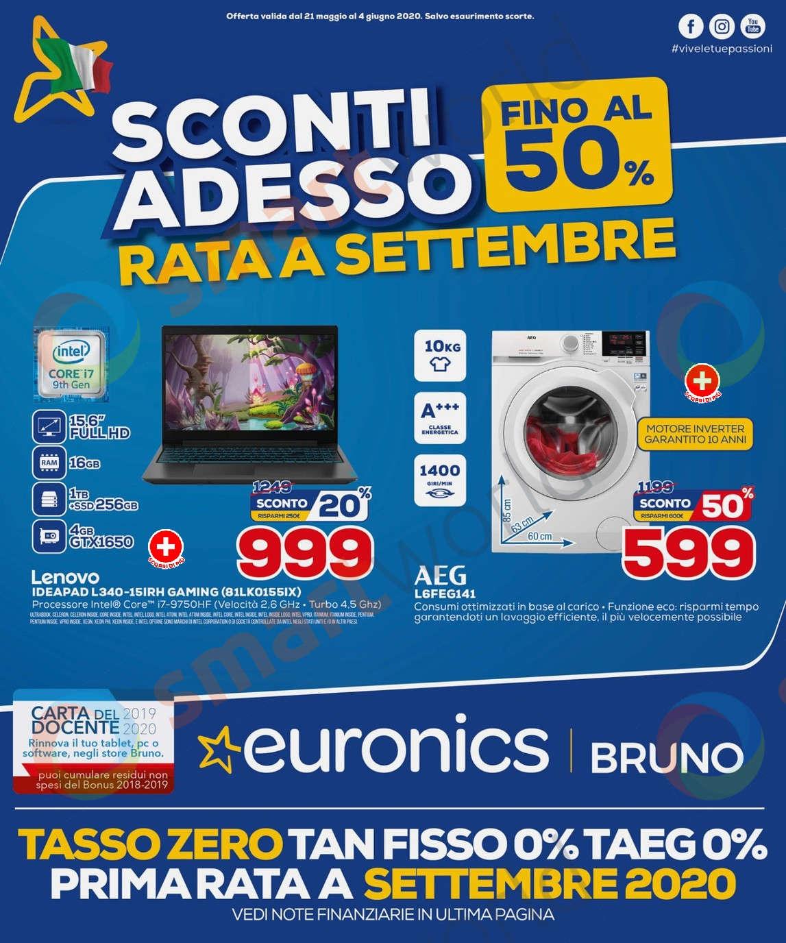 Volantino Euronics Bruno fino al 4 giugno (1)