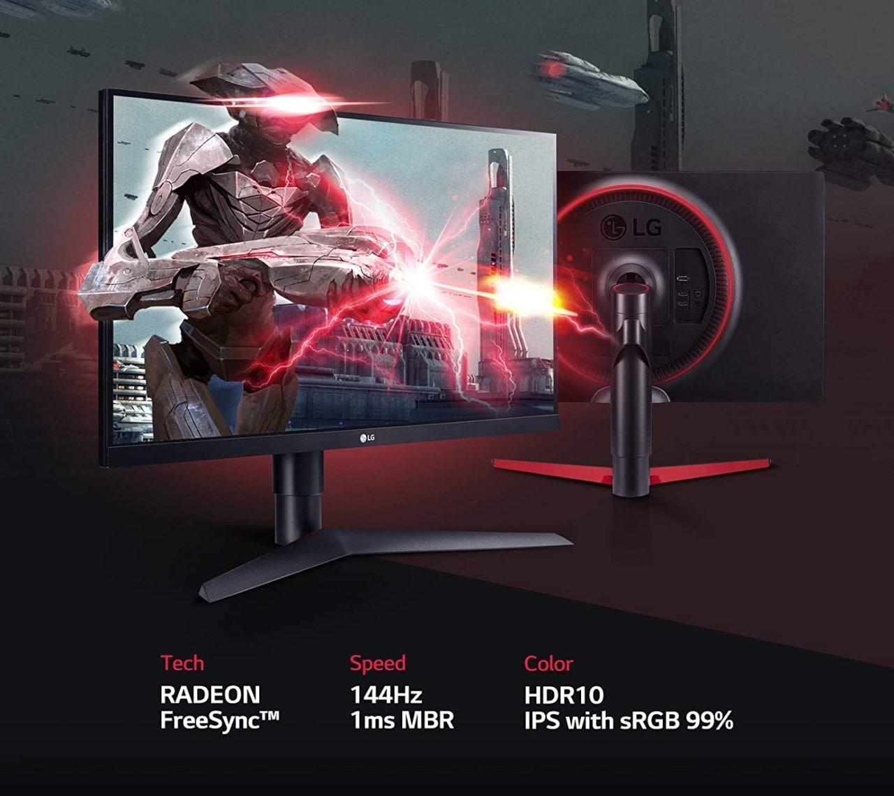 Monitor LG in offerta: prestazioni e qualità con IPS e 144 Hz a 249€