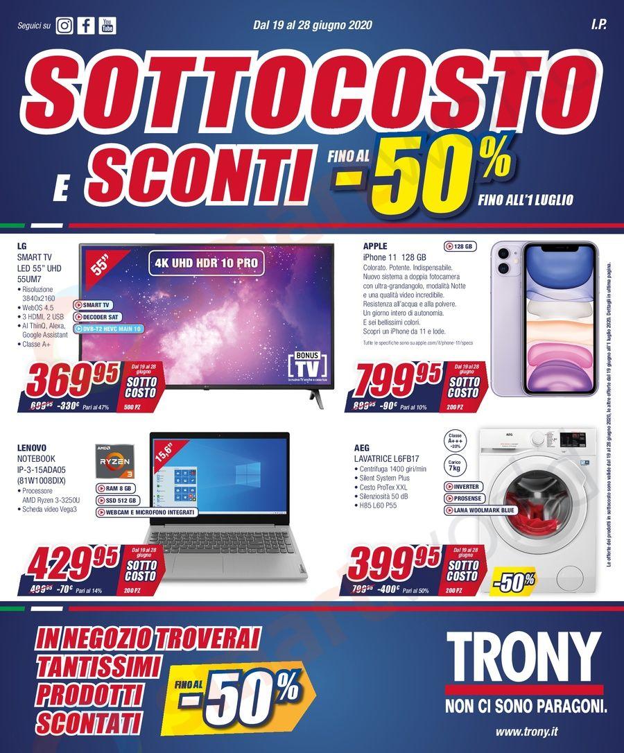 Volantino Trony Sottocosto e Sconti fino al 50% (1)