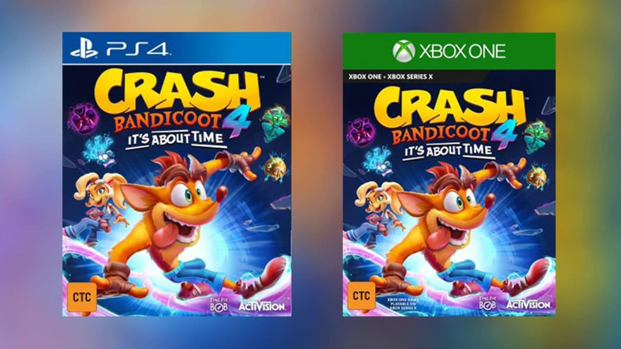 Crash Bandicoot 4: It's About Time per PS4 e Xbox One è praticamente ufficiale, trapelate online le cover!