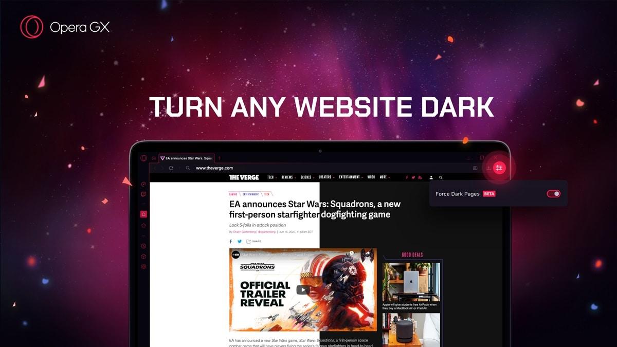 Opera GX sale di livello! Dark Mode forzata, integrazione con Discord e altro nel nuovo aggiornamento (foto)