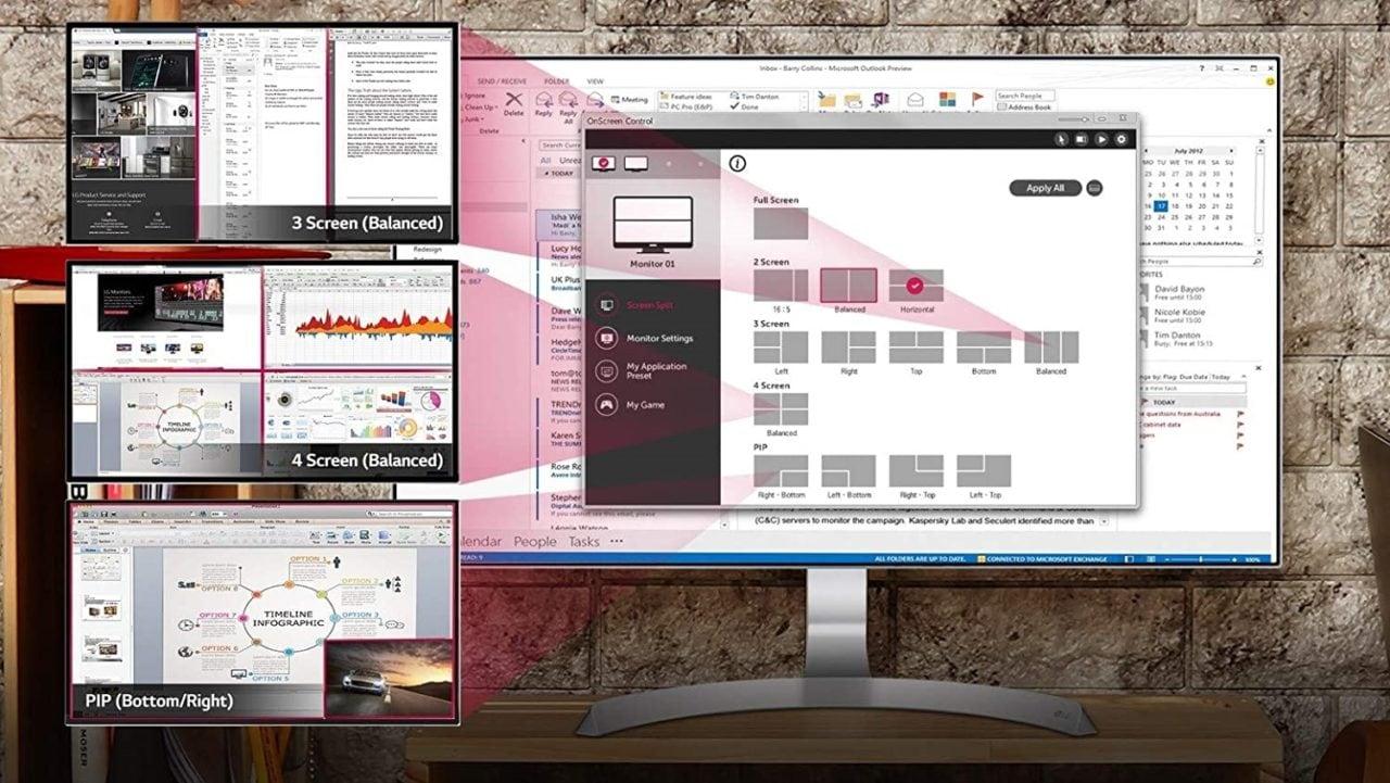 """Monitor LG 27"""" a buon prezzo: schermo IPS senza bordi, con FreeSync e Multitasking"""