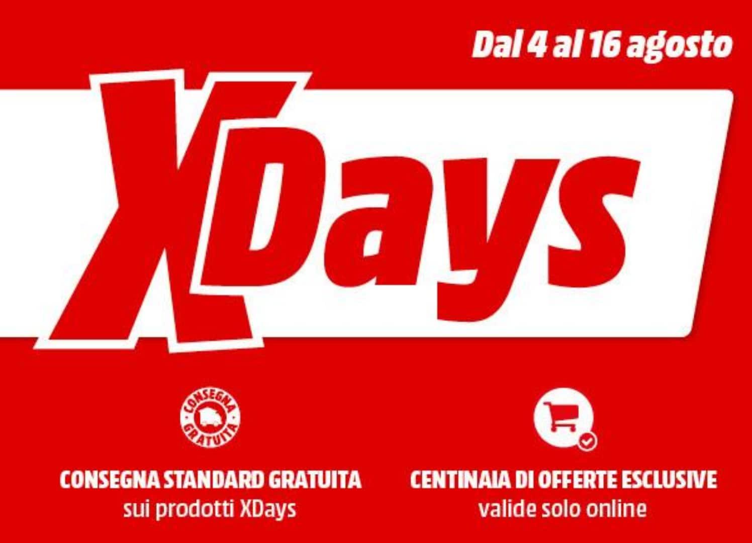 """MediaWorld offre """"X Days"""" fino al 16 agosto: un po 'di tutto, con spedizione gratuita!"""