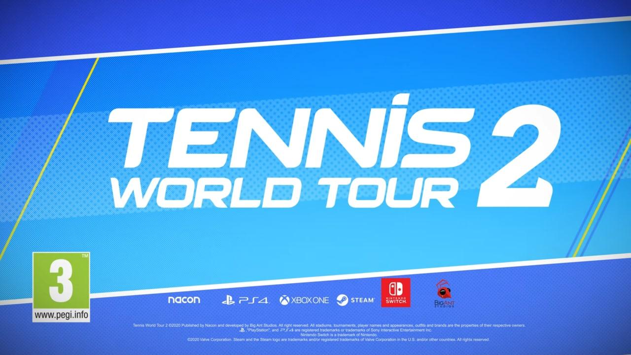 NACON ci riprova: Tennis World Tour 2 si mostra nel primo trailer gameplay!
