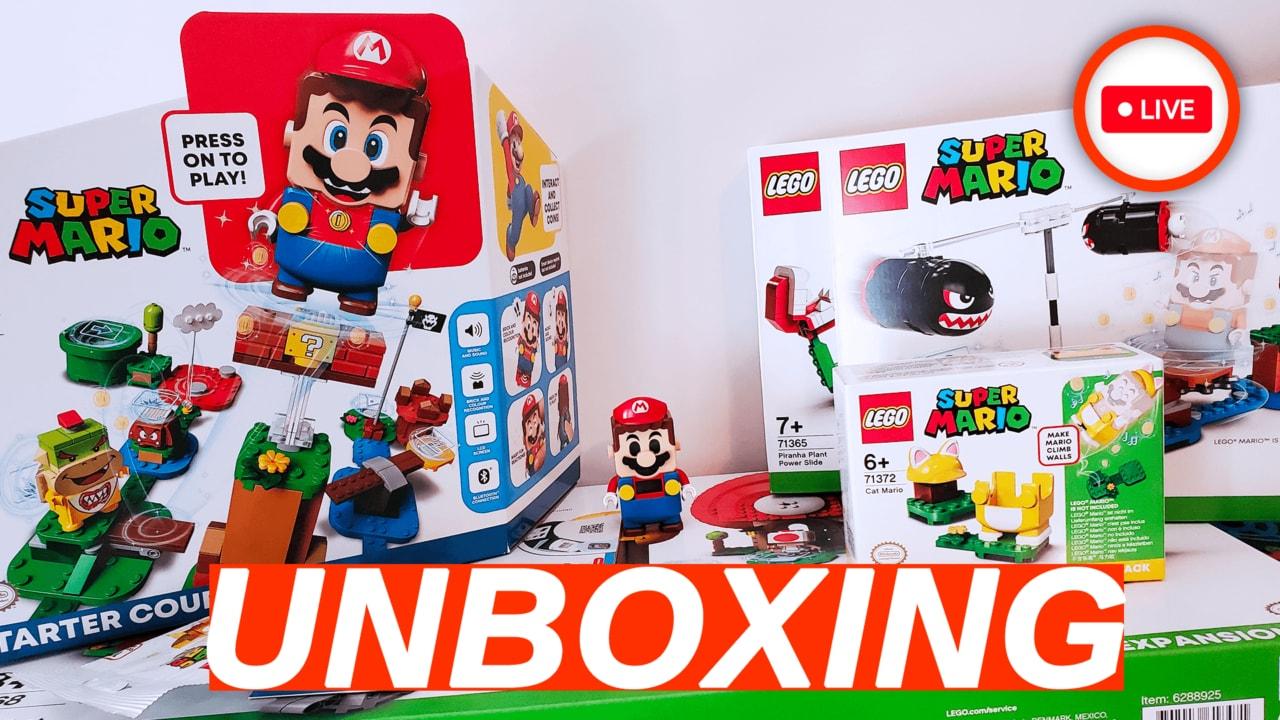 Unboxing LEGO Super Mario: giovedì 16 alle 16:00 su YouTube e Twitch