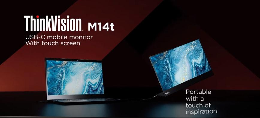Ecco il nuovo monitor Lenovo ThinkVision M14t, perfetto per lo smart working (video e foto)