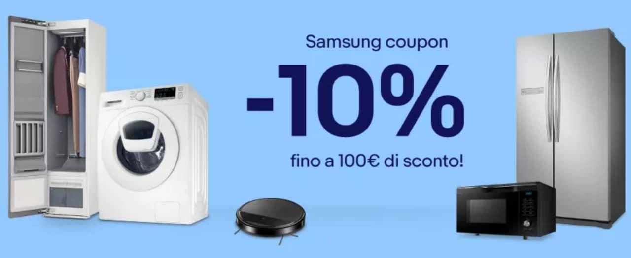 Offerte Samsung su eBay: fino a 100€ di sconto con questo coupon