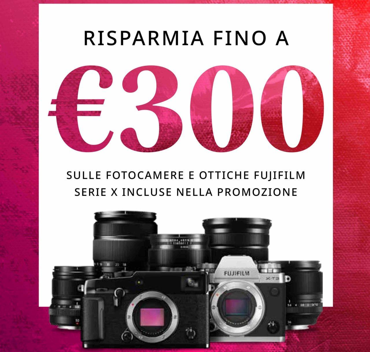 Fujifilm sconta e rimborsa fino a 300€: Cashback e Instant Rebate per mirrorless e ottiche
