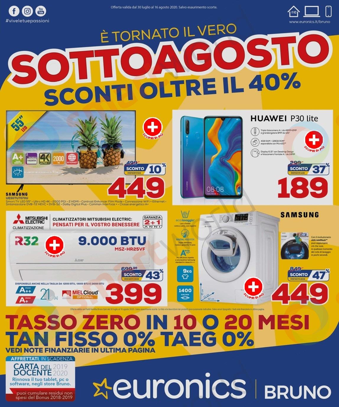 """Volantino Euronics """"SottoAgosto"""" 30 lug – 16 ago: tagli ..."""