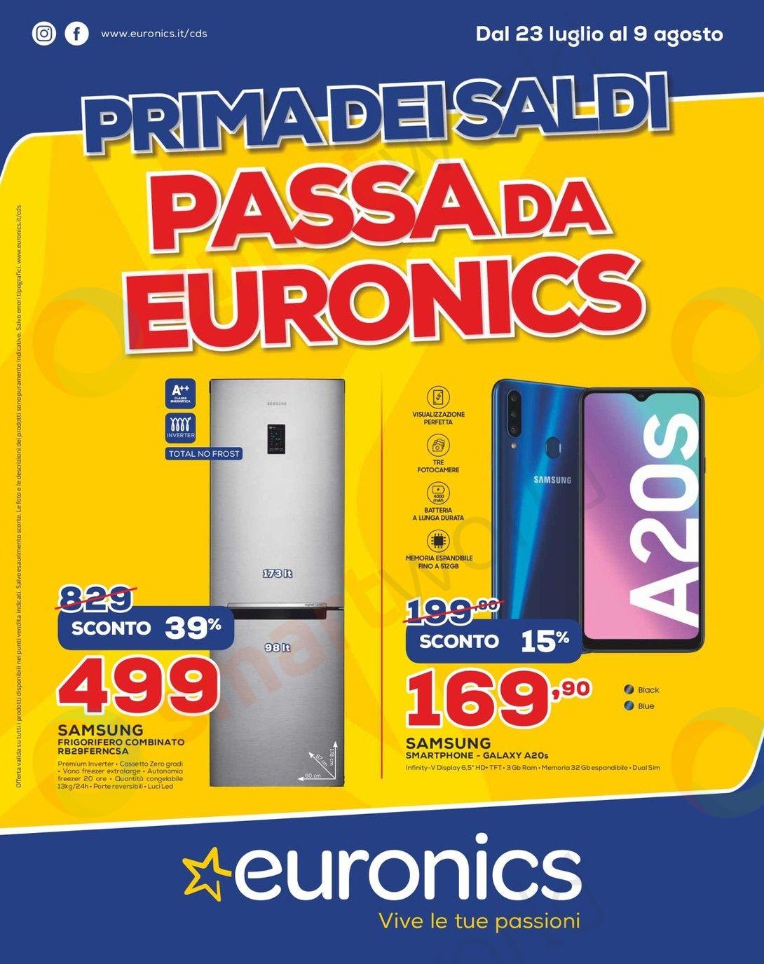 volantino euronics cds 23 luglio 9 agosto 2020 (1)