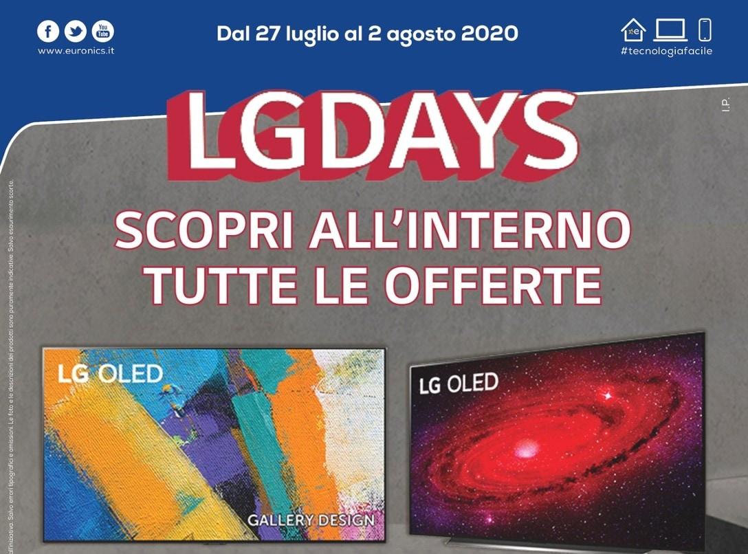 "Volantino Euronics Nova ""LG DAYS"" 27 lug – 2 ago: sconto extra per gli Smart TV OLED (Ultimi giorni)"