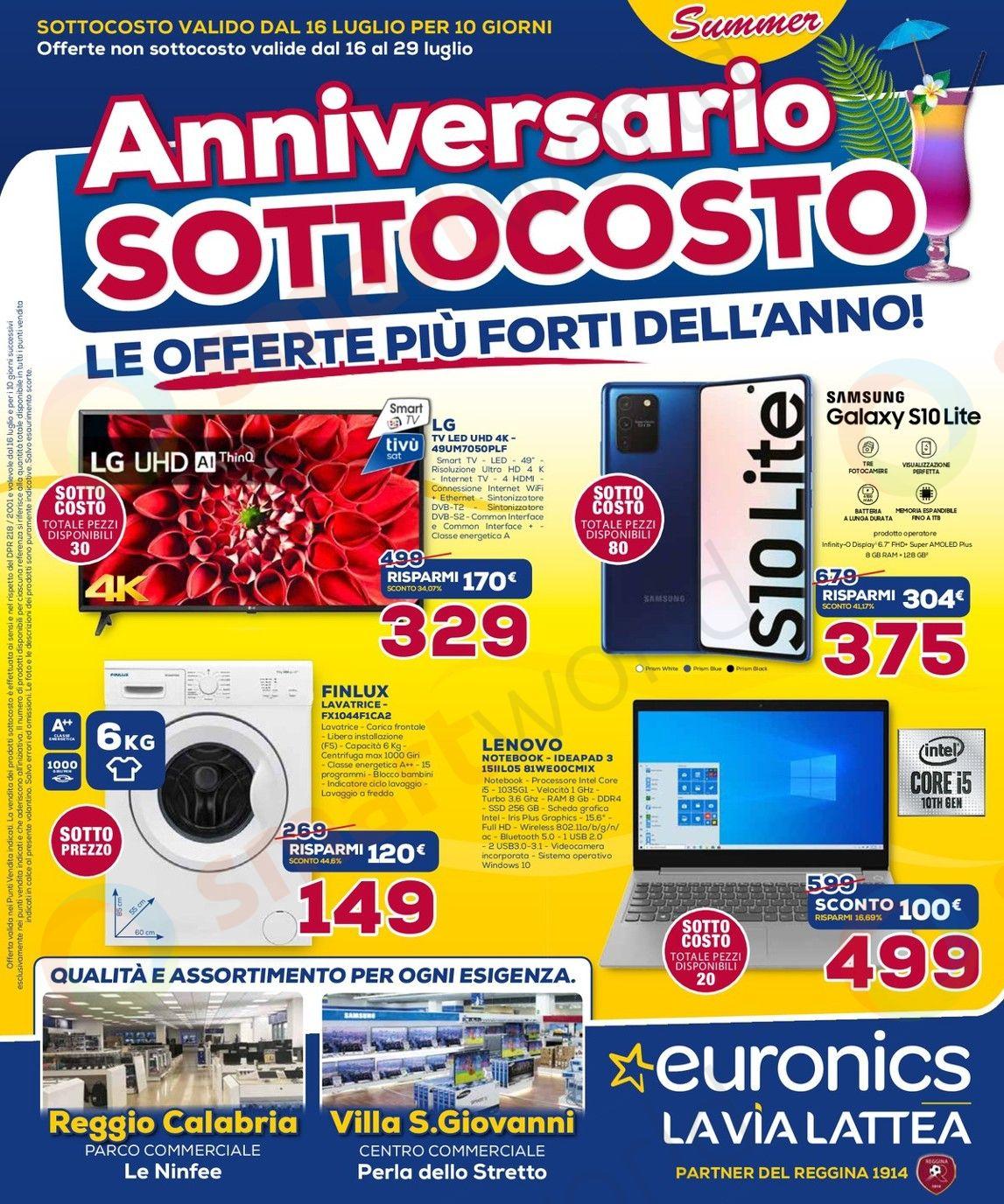 volantino euronics via lattea 2 16-29 luglio 2020 (1)