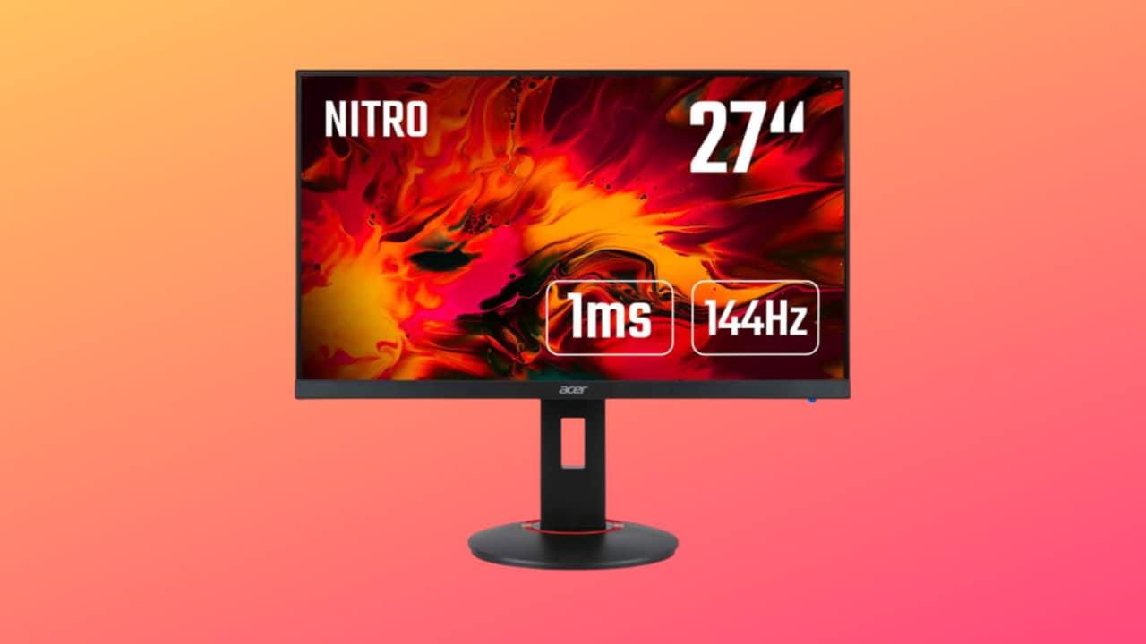 Monitor Acer da gaming mai visto a questo prezzo: 27 pollici, 144 Hz e 1 ms