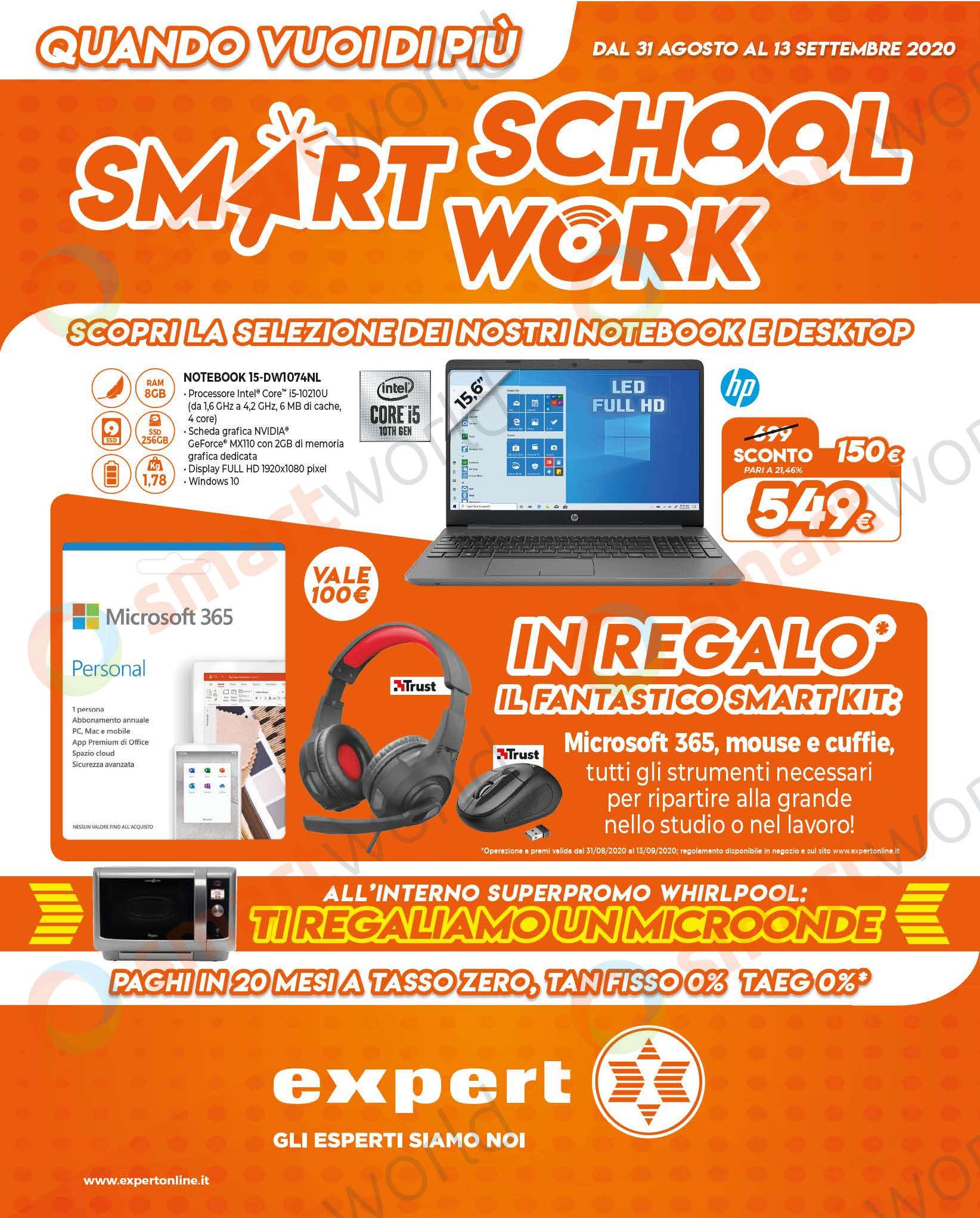 Volantino Expert Smart School Work 31 ago – 13 set 2020 (1)