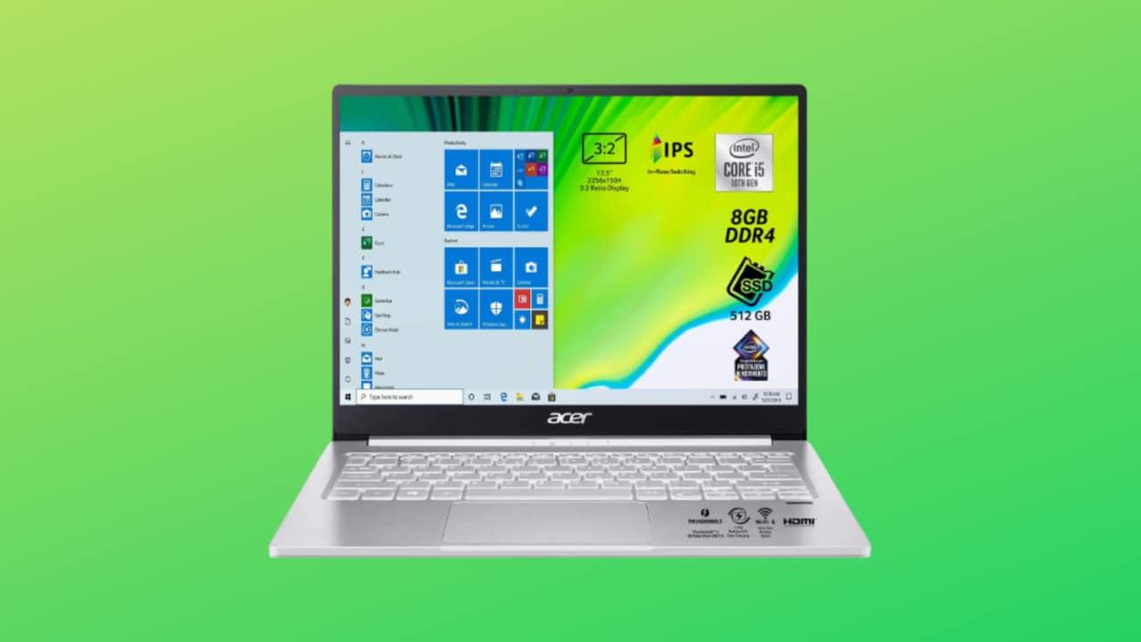 """Miglior prezzo per Acer Swift 3, notebook da 13,5"""" compatto e prestante"""