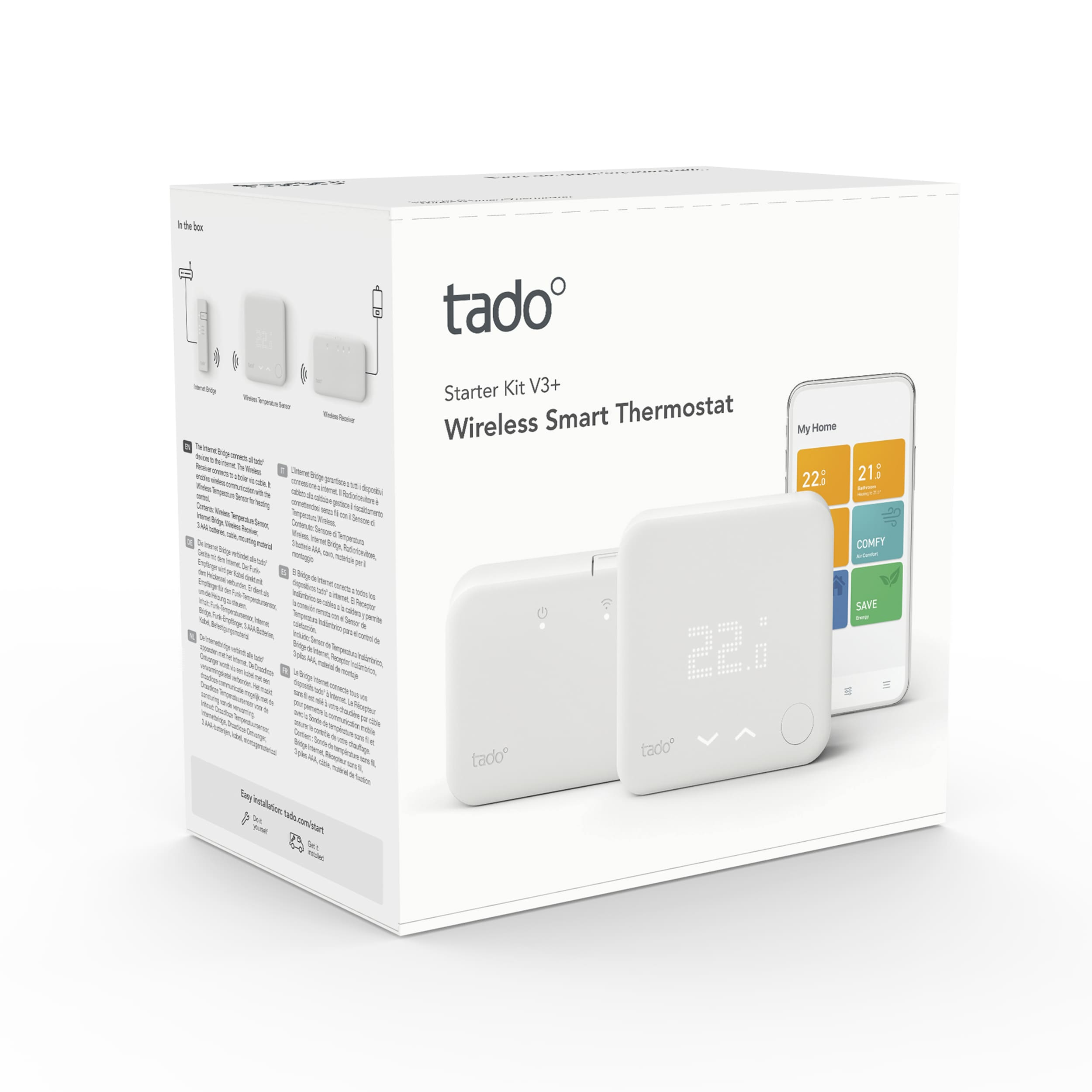 tado° Smart Thermostat Starter Kit V3+ wireless