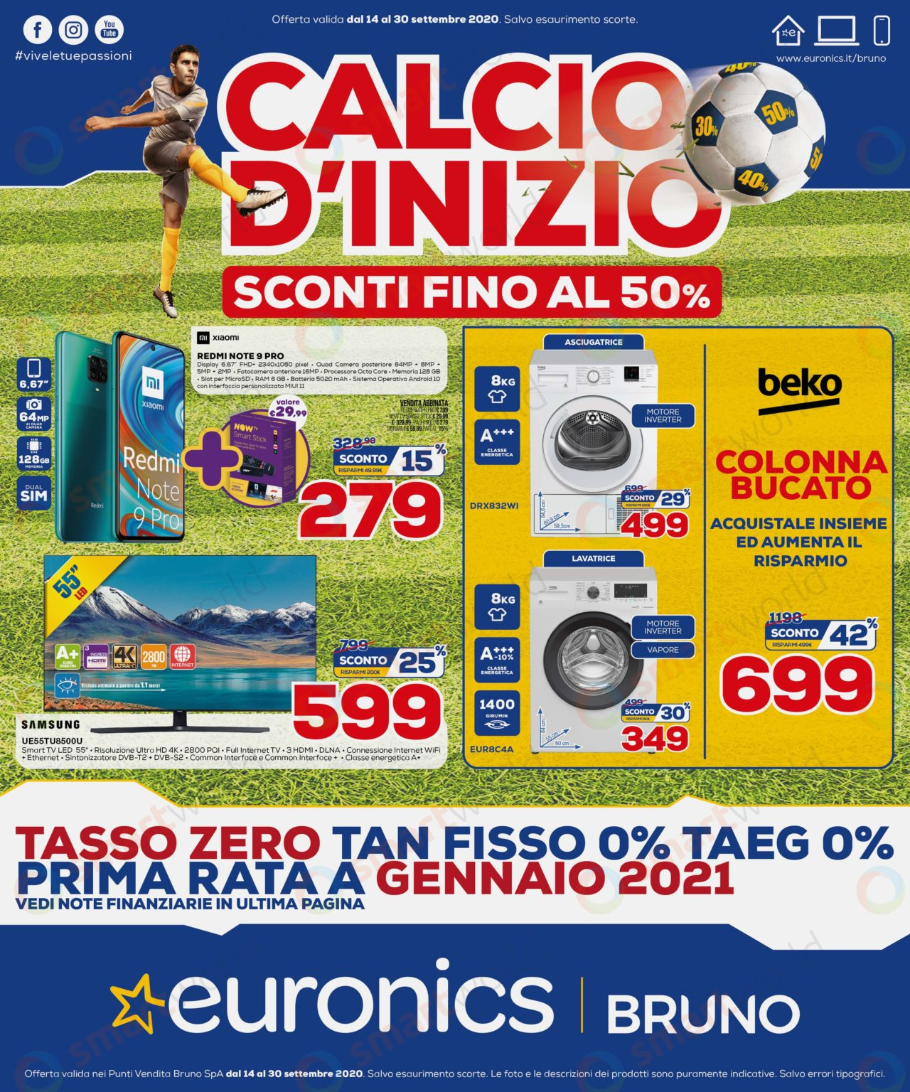 """Volantino Euronics """"Calcio d'inizio"""" 14-30 settembre ..."""