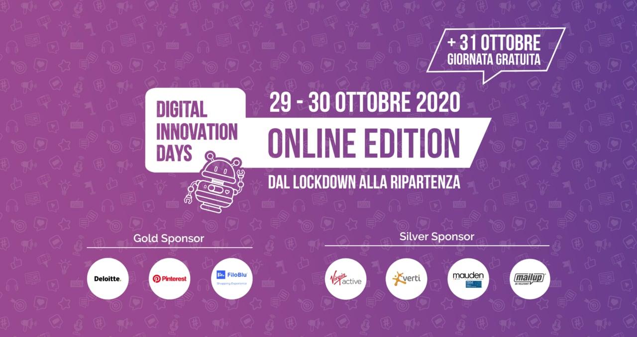 Digital Innovation Days Italy 2020: pochi giorni alla prima edizione online