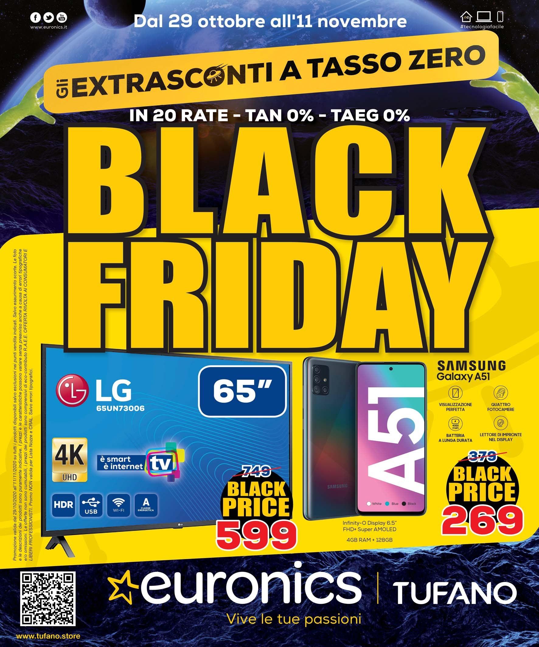 Euronics Extrasconti a Tasso Zero Black Friday (1)