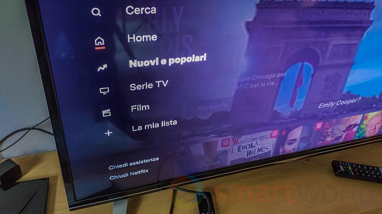 Su Netflix da Smart TV debutta la sezione Nuovi e Popolari