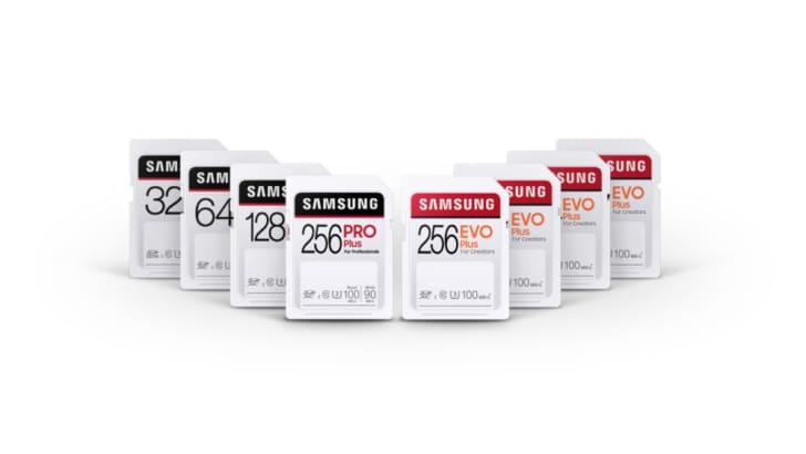 Samsung presenta le velocissime schede SD PRO Plus ed EVO Plus con supporto per video 4K UHD e Full HD