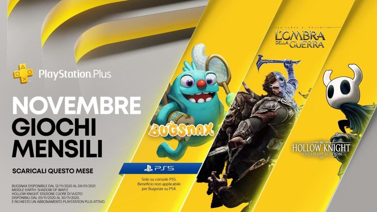 Un gioco PS5 in regalo con PS Plus di novembre
