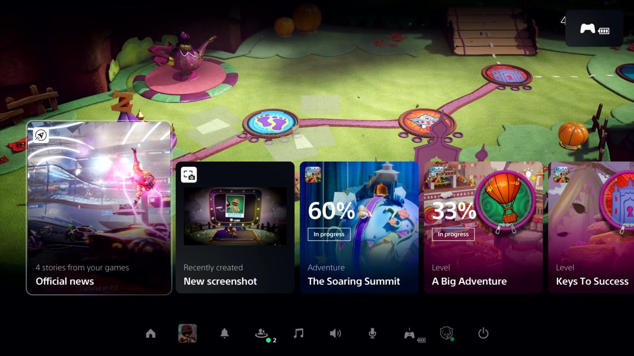 Finalmente l'interfaccia utente di PS5: è stata disegnata per TV 4K e per sfruttare l'SSD (video)