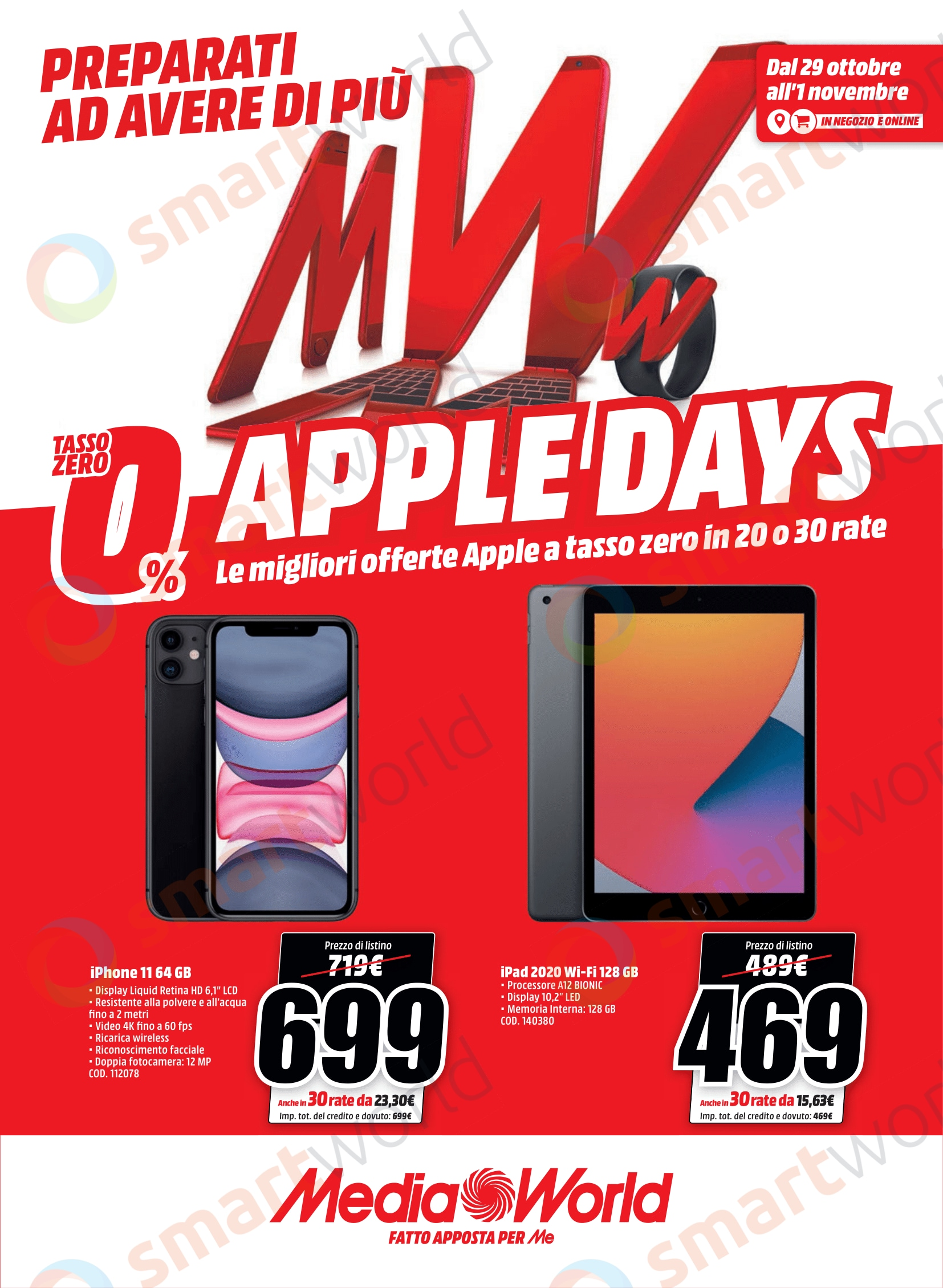 "Volantino MediaWorld ""Apple Days"" 29 ott – 1 nov (2)"