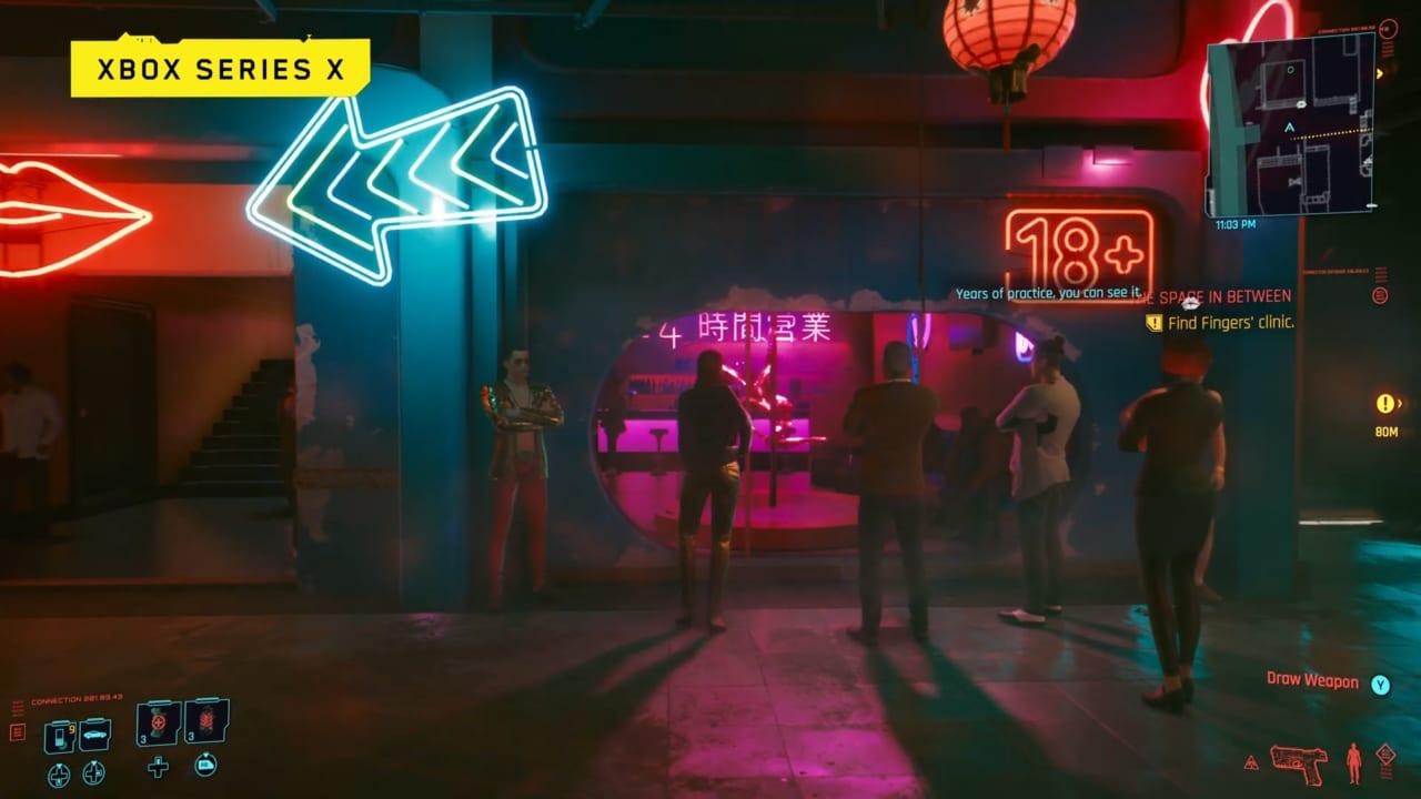 Cyberpunk 2077 mostrato in azione su Xbox Series X, anche a confronto con Xbox One X