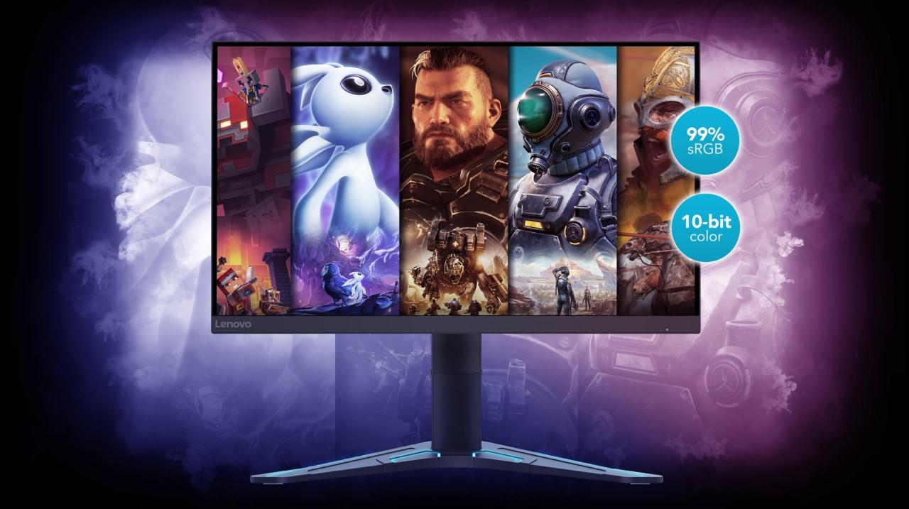 Lenovo annuncia i suoi due nuovi monitor da gaming dalla grande potenza (foto)