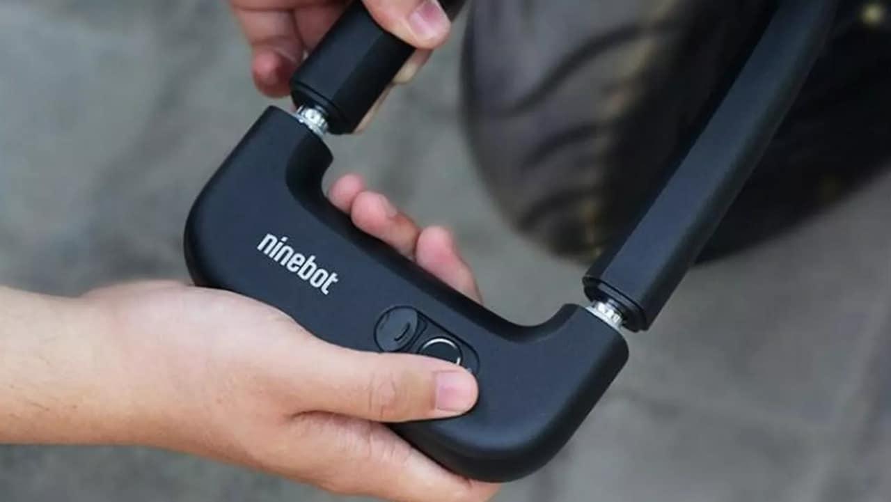 Ninebot lancia un luccetto U-Lock anche per monopattini con lettore impronte per lo sblocco (foto)