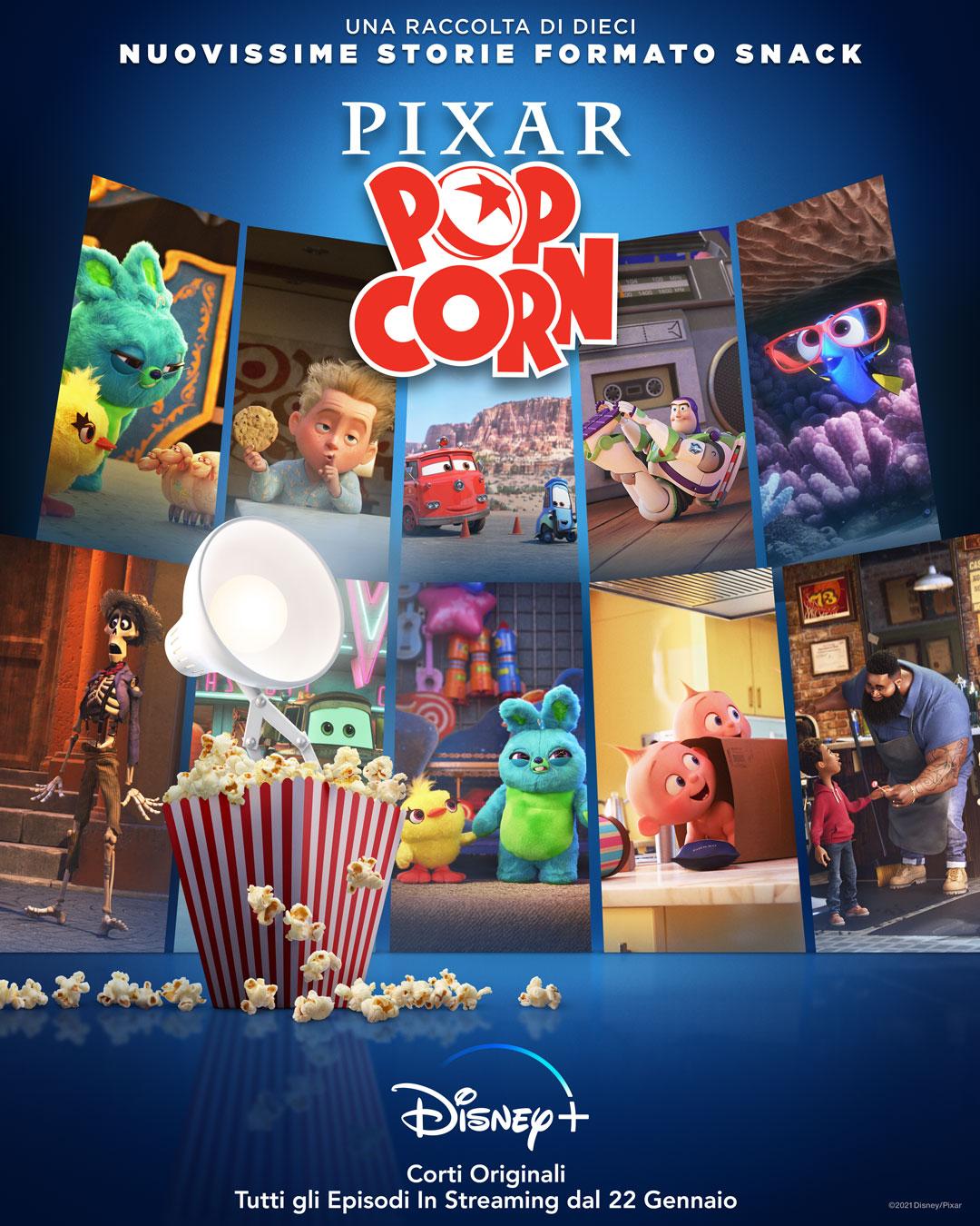 Siete pronti per Pixar Popcorn? Il cast sarà stellare! (video)