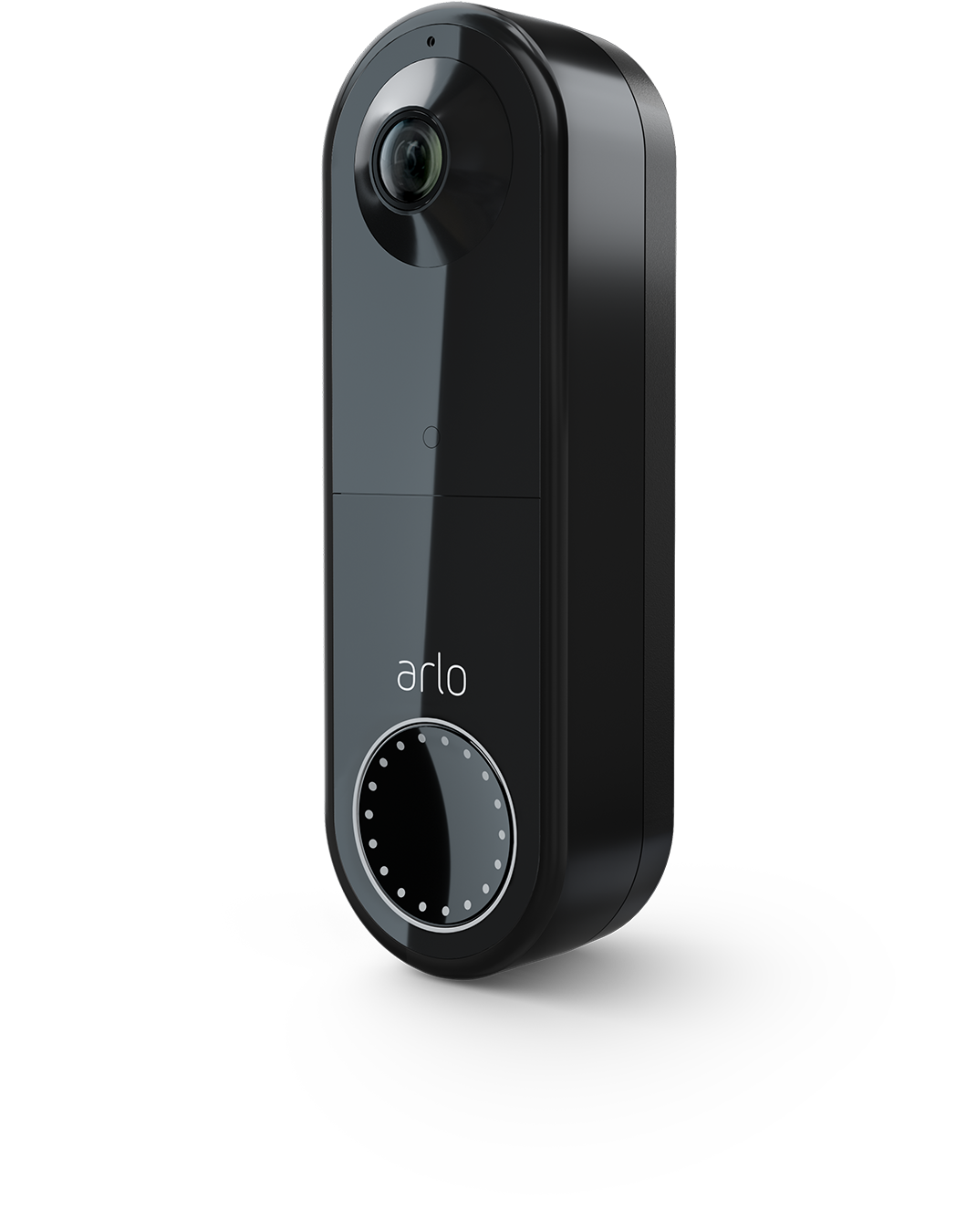 Wire Free Doorbell_Black_transparent