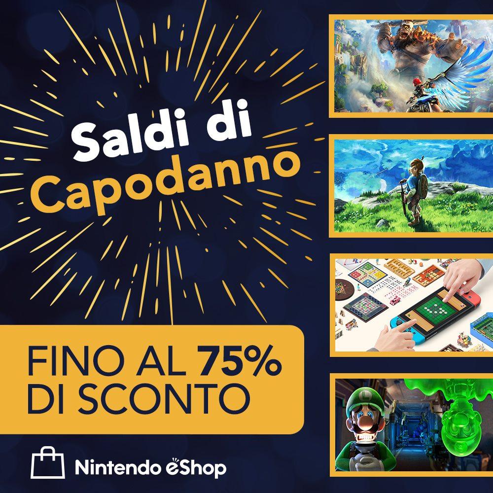 Saldi di Capodanno Nintendo eShop: fino al 75% di sconto su The Legend of Zelda, The Elder Scrolls V e tanto altro