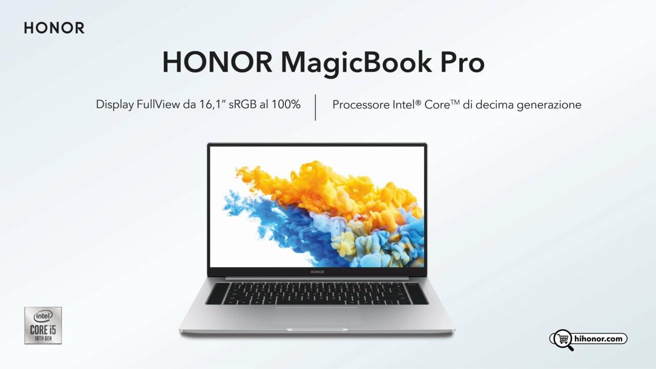 Honor: fa il suo debutto il MagicBook PRO, il laptop con processore di decima generazione Intel Core