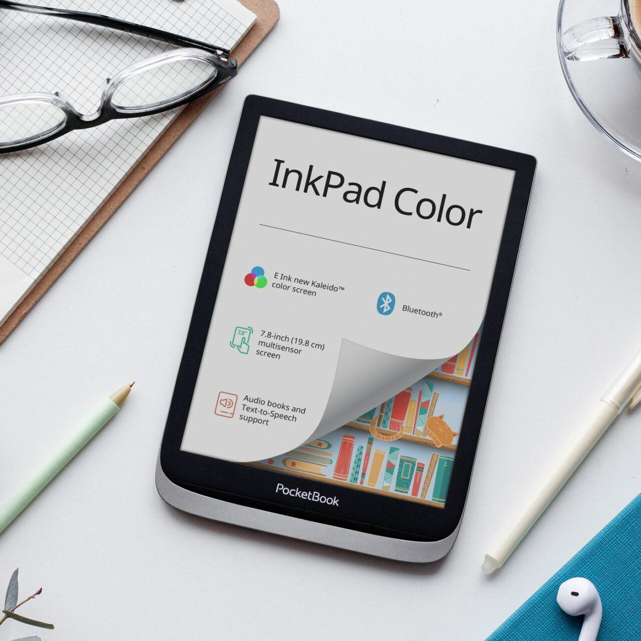 PocketBook InkPad Color, l'eReader con il nuovo pannello E-Ink a colori arriva in Europa