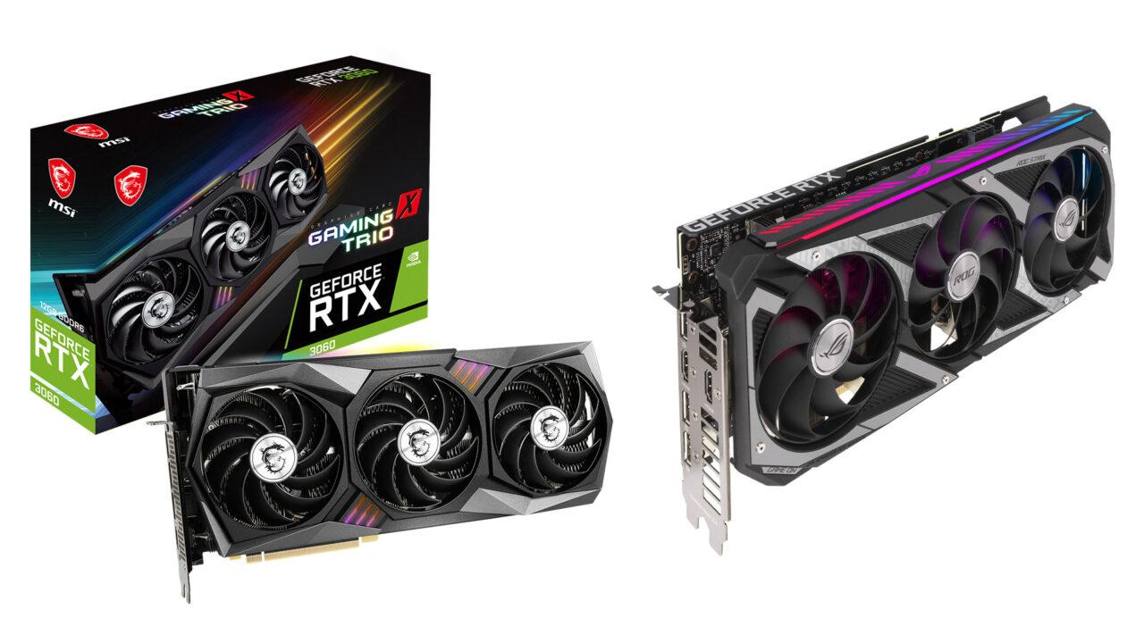 NVIDIA GeForce RTX 3060 arriva in Italia con i modelli ASUS e MSI